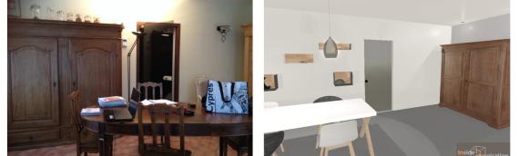 Relooking d'un salon – salle à manger