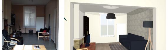 Relooking d'un salon/salle à manger meublé Ikea